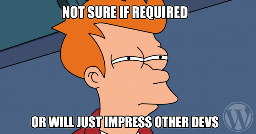 Not sure if required or will just impress other devs