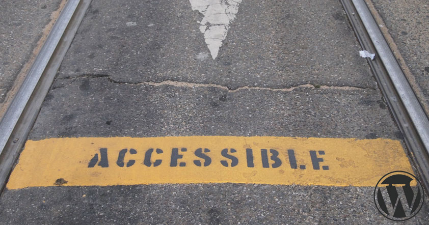A road with a accessible painted in yellow