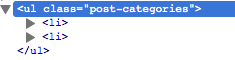 """#3 in """"How they differ"""" - get_the_category_list includes the wrapping ul tags with the class of """"post_categories"""""""
