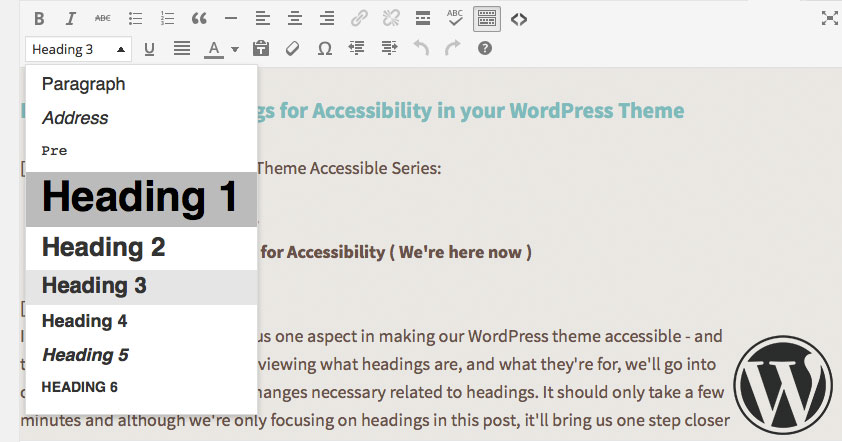How to organize headings for accessibility