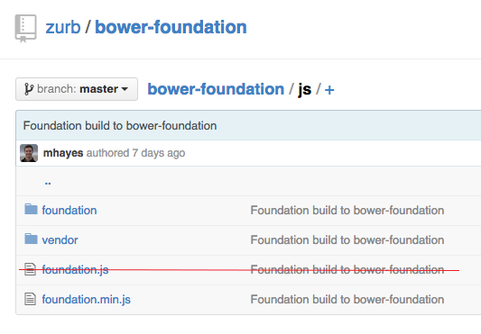 Bower Foundation Repo JS