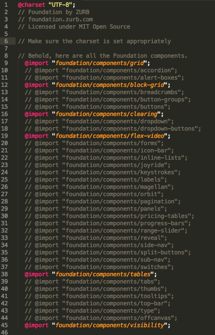 foundation.scss after commenting